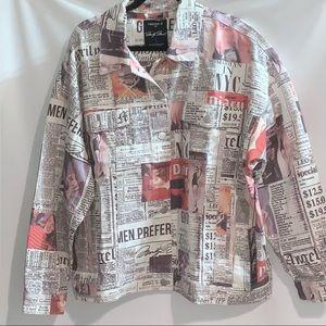 Marilyn Monroe Forever 21 Newspaper jean jacket…